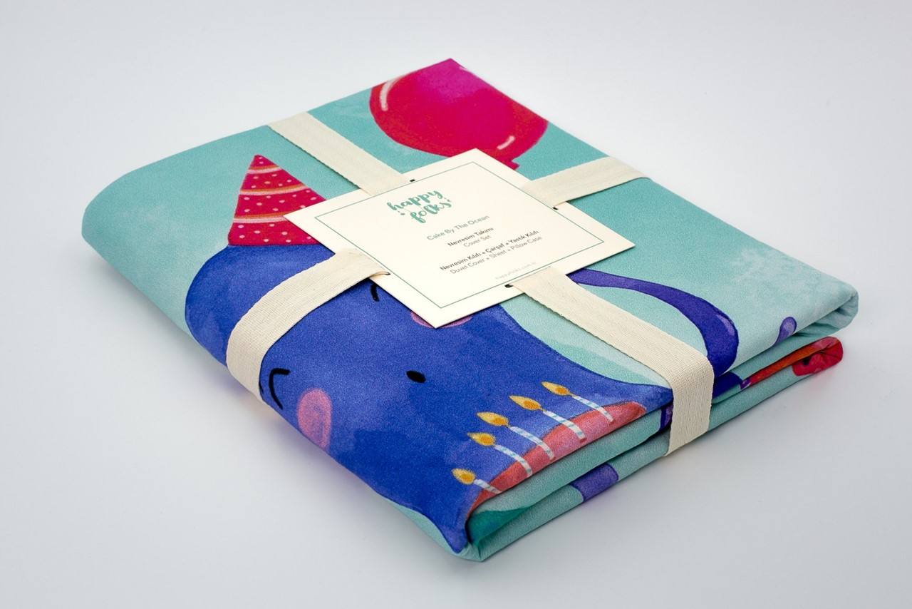 Picture of Cake by the Ocean Cover Set (%100 Cotton)