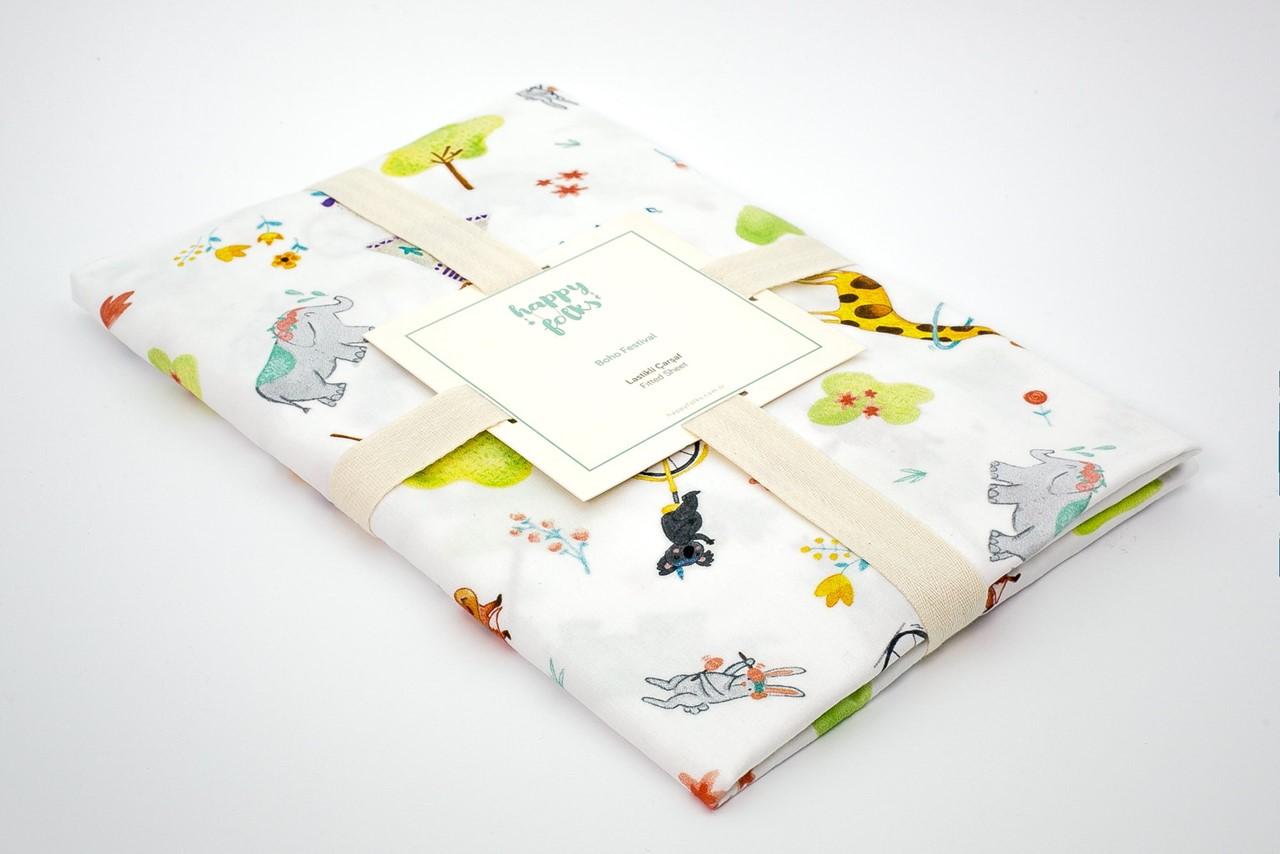 Picture of Boho Team Fun Fitted Sheet (%100 Cotton - 70*140)