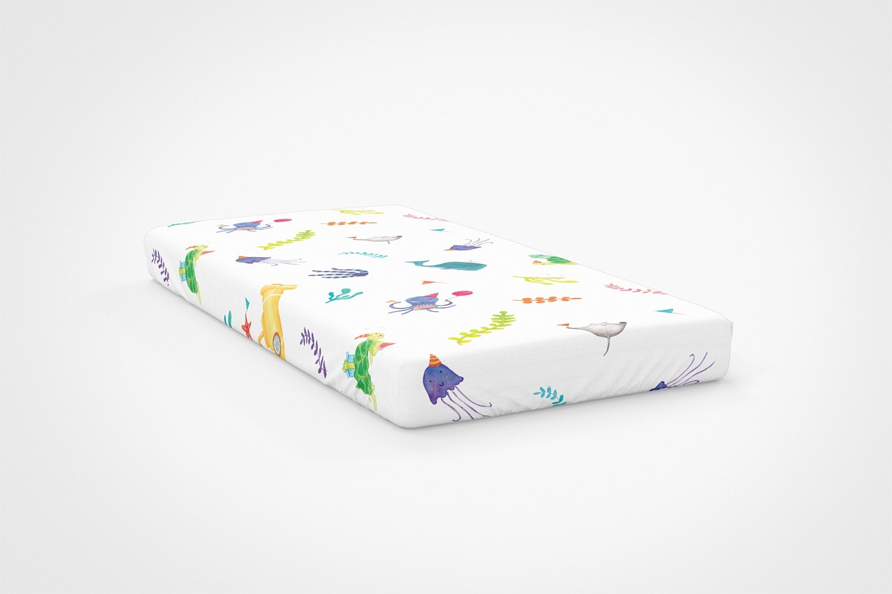 Picture of Ocean Team Fun Fitted Sheet (%100 Cotton - 100*200)