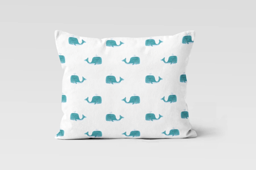 Whales Everywhere Pillow Case
