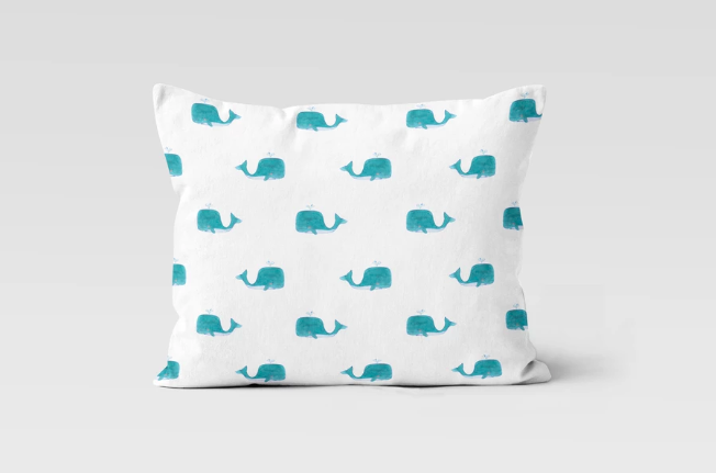 Picture of Whales Everywhere Pillow Case