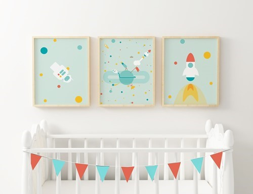 To the Moon and Back Triplet Frame Set