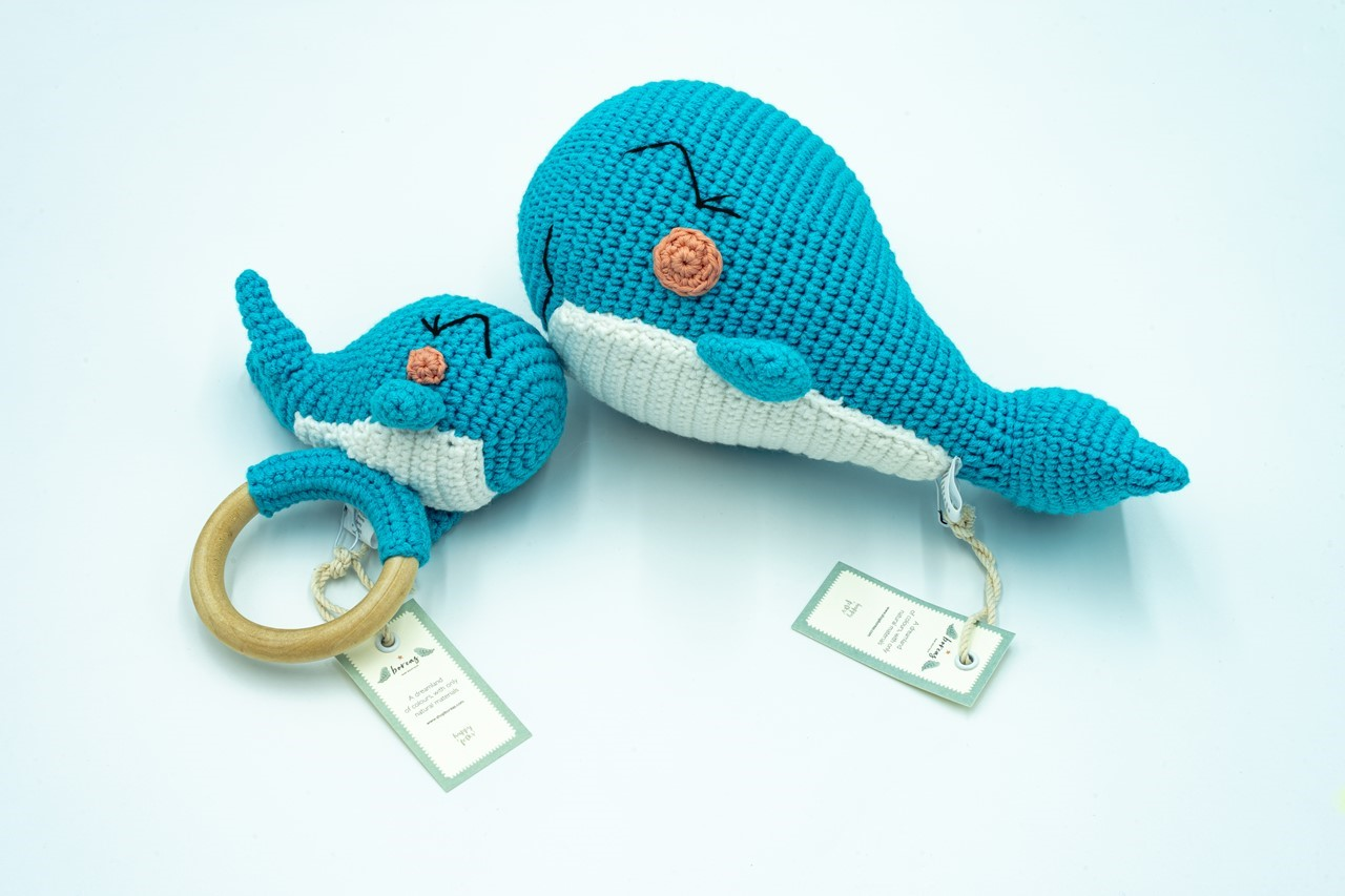 Picture of Miss Whale Sleeping Buddy (Organic)