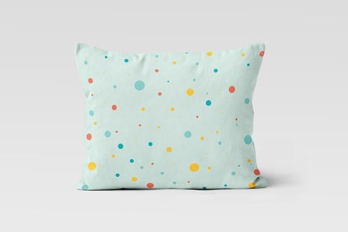 'Dots in Space' %100 Organic Pillowcase - (35x45 cm)