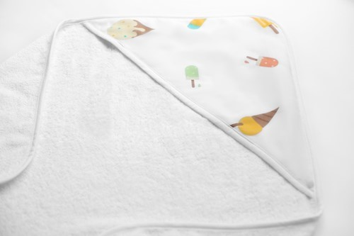 3X ORGANIC BABY TOWEL - ICE CREAM LAND
