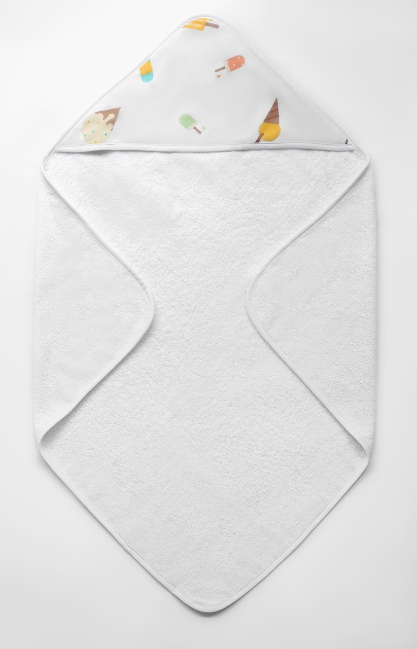 Picture of 3X ORGANIC BABY TOWEL - ICE CREAM LAND