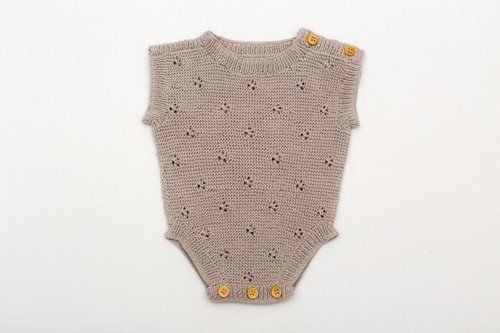 OVERALL SOGUT DESIGN BROWN COLOR (0-6 MONTHS)